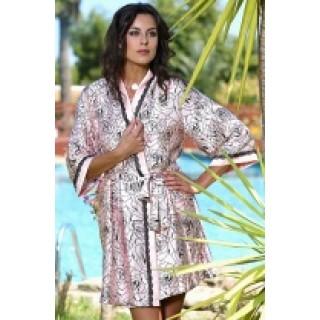 Шелковый Домашний халат Mia-Mia 9163